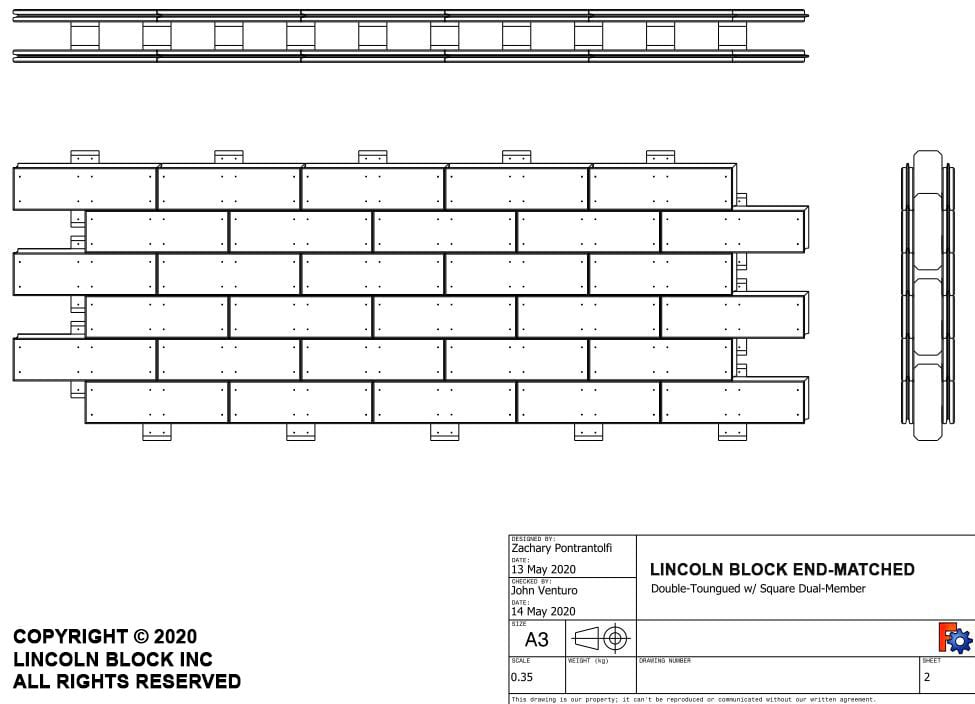 lincoln block end matched